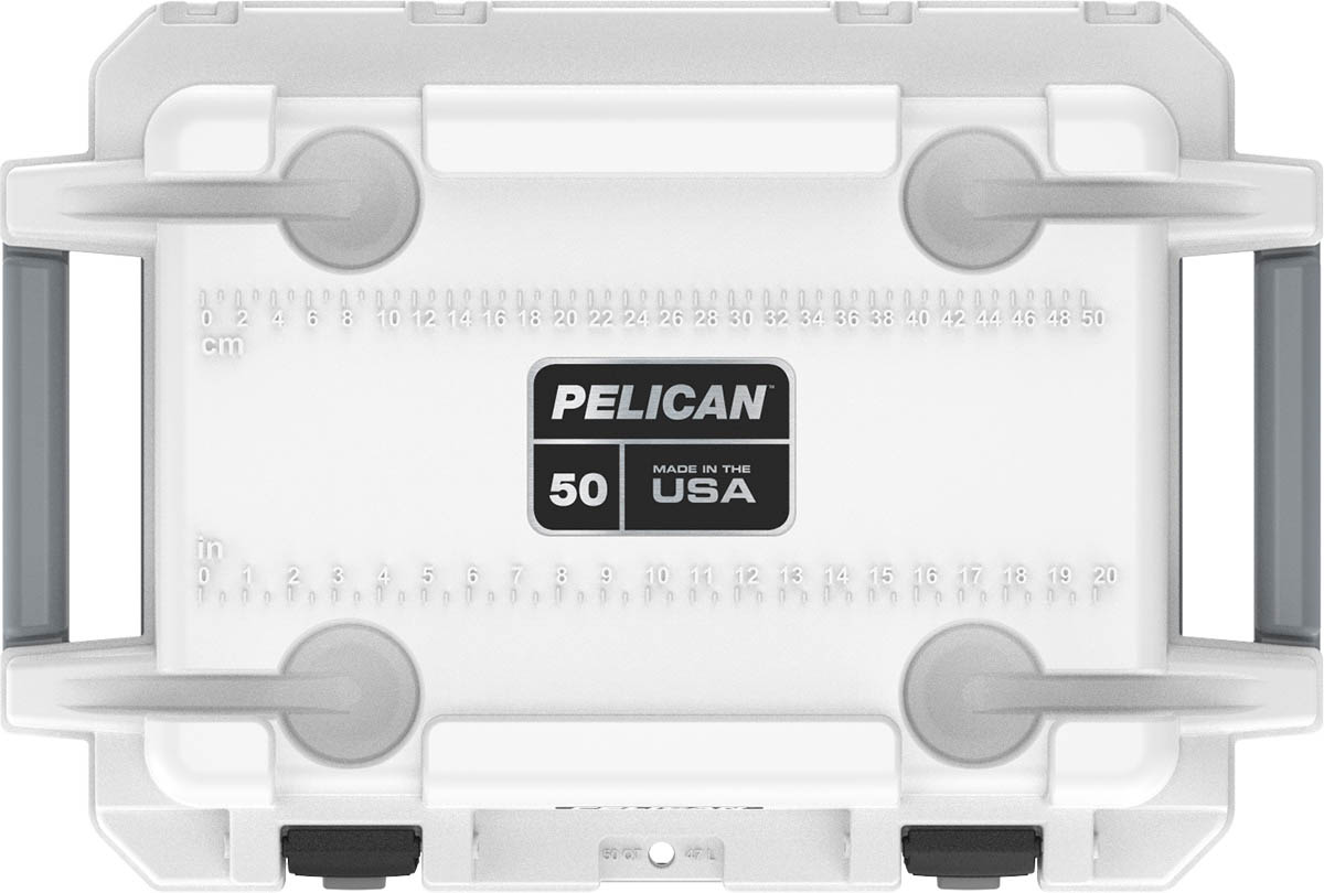 shop pelican 50qt buy marine boat cooler rubber feet