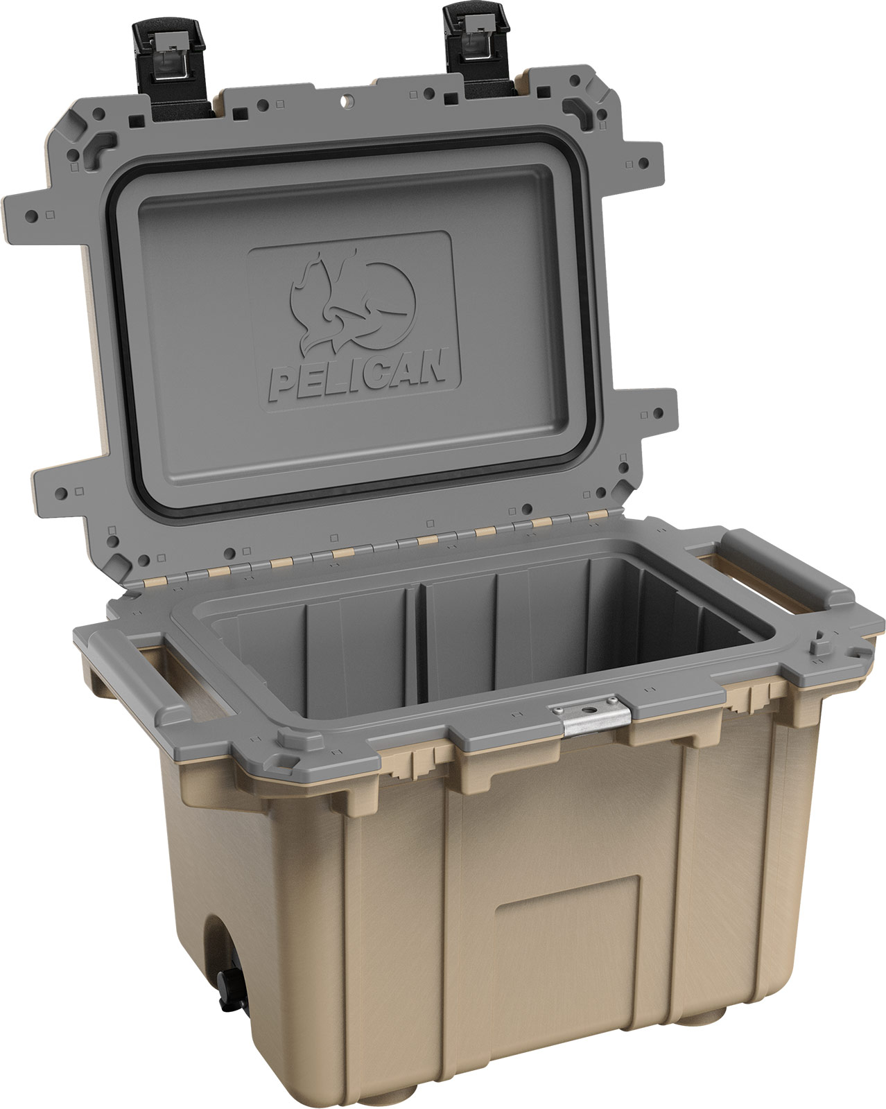 pelican 50qt outdoor overland coolers tan