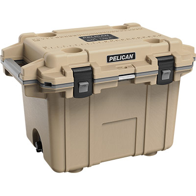 pelican 50qt overland collection tan cooler 50qt
