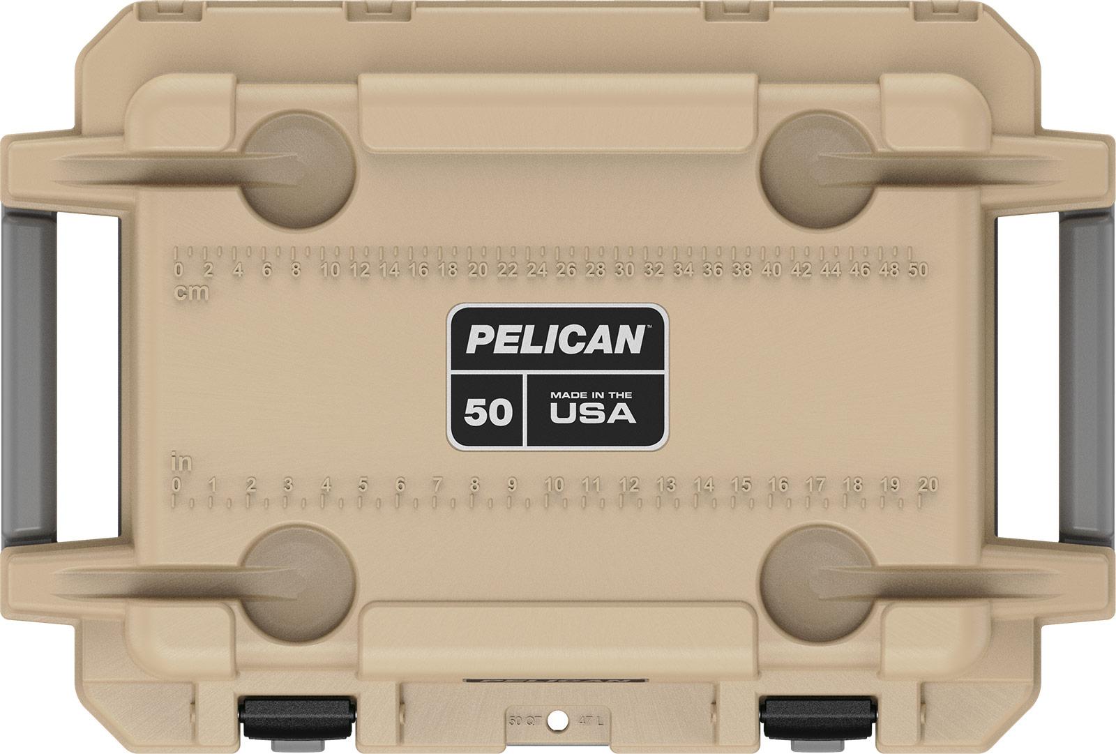 pelican 50qt overland coolers 50 qt coyote tan
