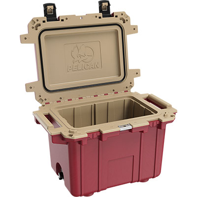 pelican 50qt overlanding coolers 50 quart red