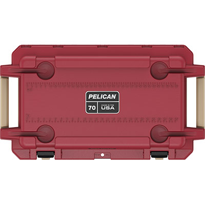 pelican 70qt 70 quart red overland cooler collection