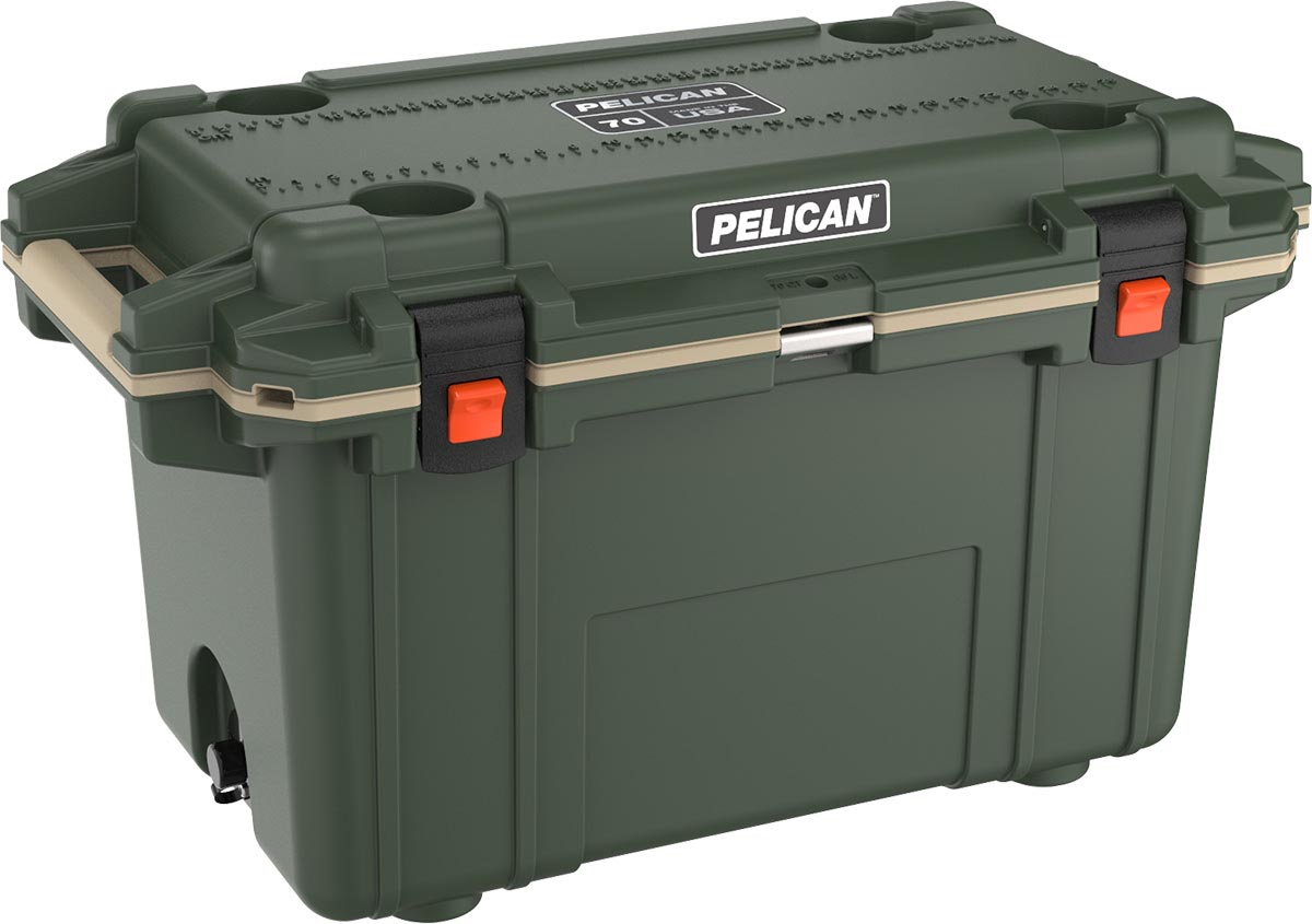 shop pelican 70qt buy hunting coolers green