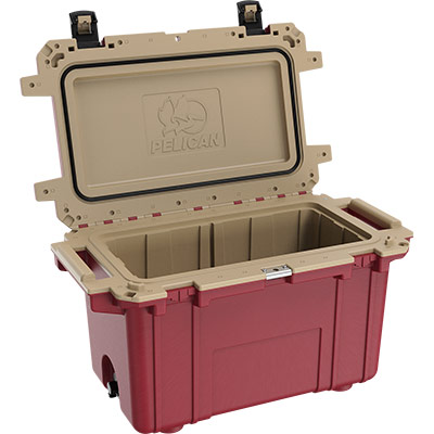 pelican 70qt overland collection red cooler