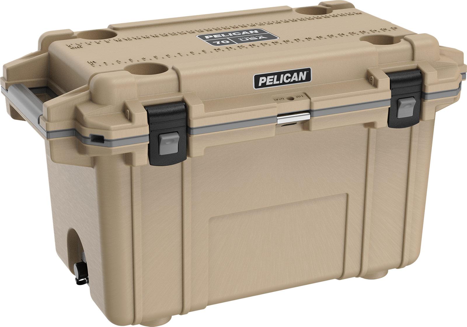 pelican 70qt overland cooler coyote tan