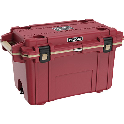 pelican 70qt overlanding coolers red 70 quart