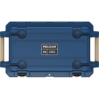 pelican 70qt pacific blue cooler overland