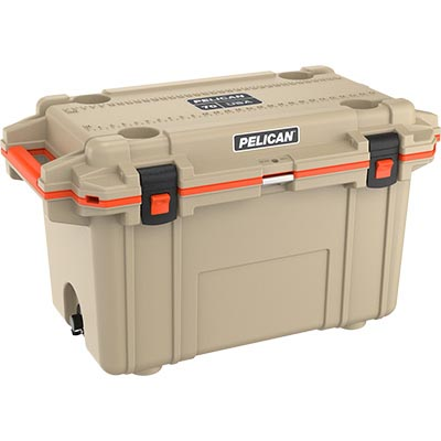 shopping pelican 70qt buy tan orange outdoor cooler