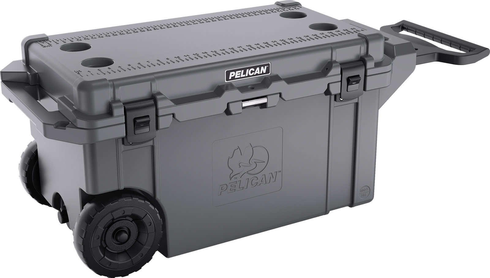 best loved 94187 234ec pelican 80qt cooler gray wheeled coolers. ×. ×