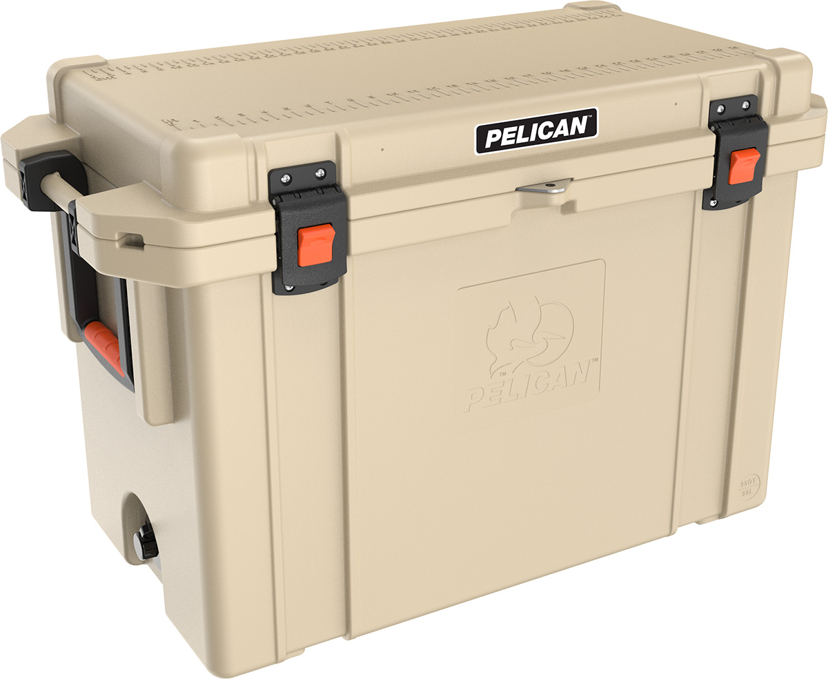 buy pelican 95qt shop hunting outdoor coolers tan