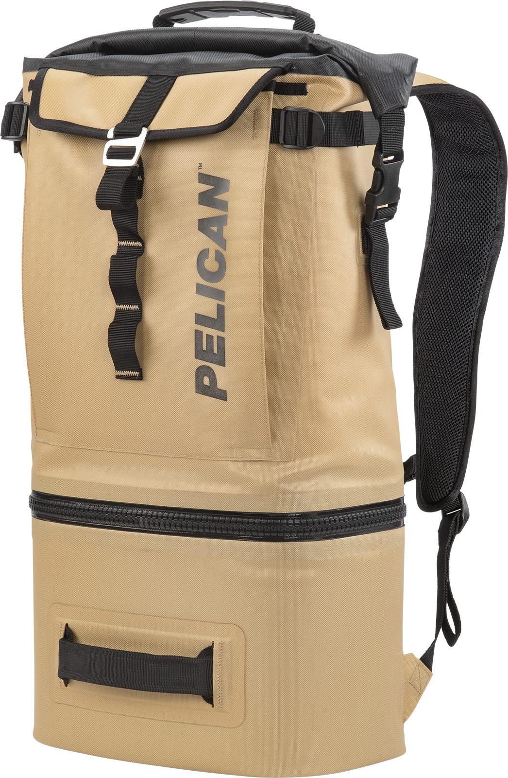 pelican soft backpack cooler tan