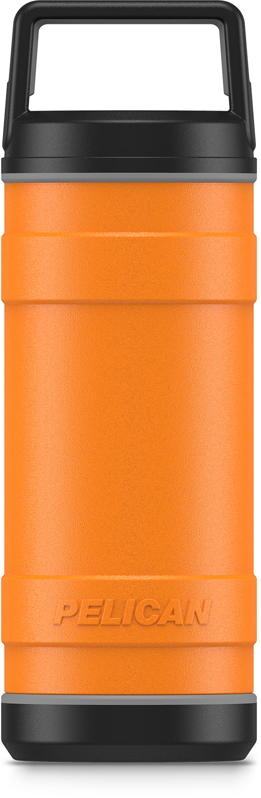 pelican 18oz orange insulated bottle