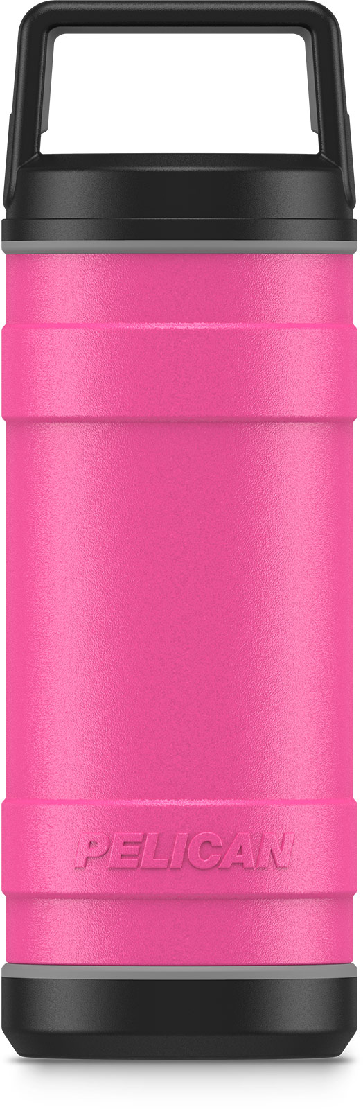 pelican pink 18oz stainless steel bottle