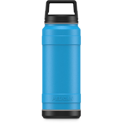 pelican 32oz stainless steel bottle blue