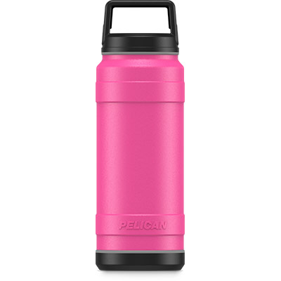 pelican pink 32oz stainless steel bottle