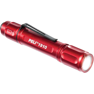 peli products super bright red led torch