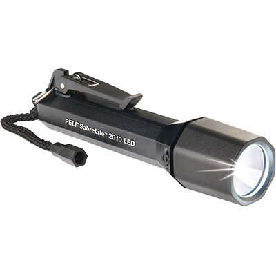 pelican 2010 waterproof black sabre lite safety light