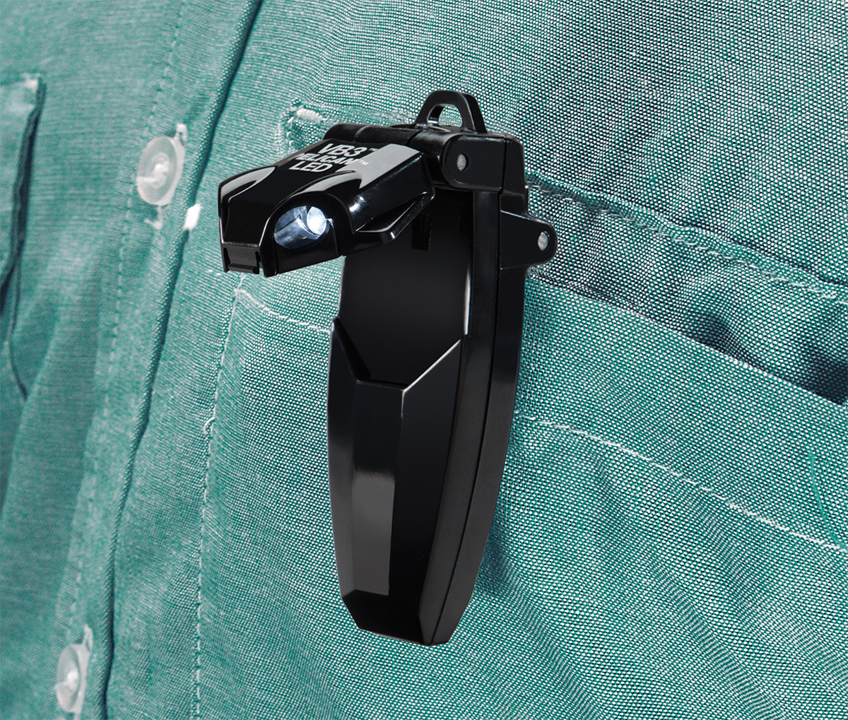pelican 2220 bright shirt pocket clip on led light