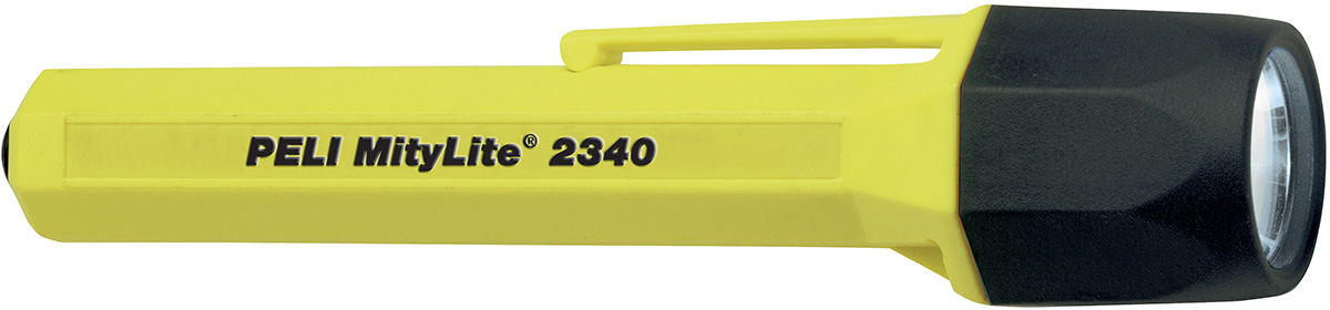 peli 2340 mitylite yellow safety torch