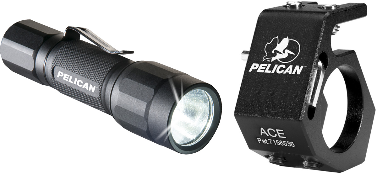 pelican 2350 2350combo flashlight ace helmet holder