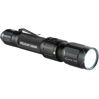 pelican 2380r usb rechargable led tactical flashlight
