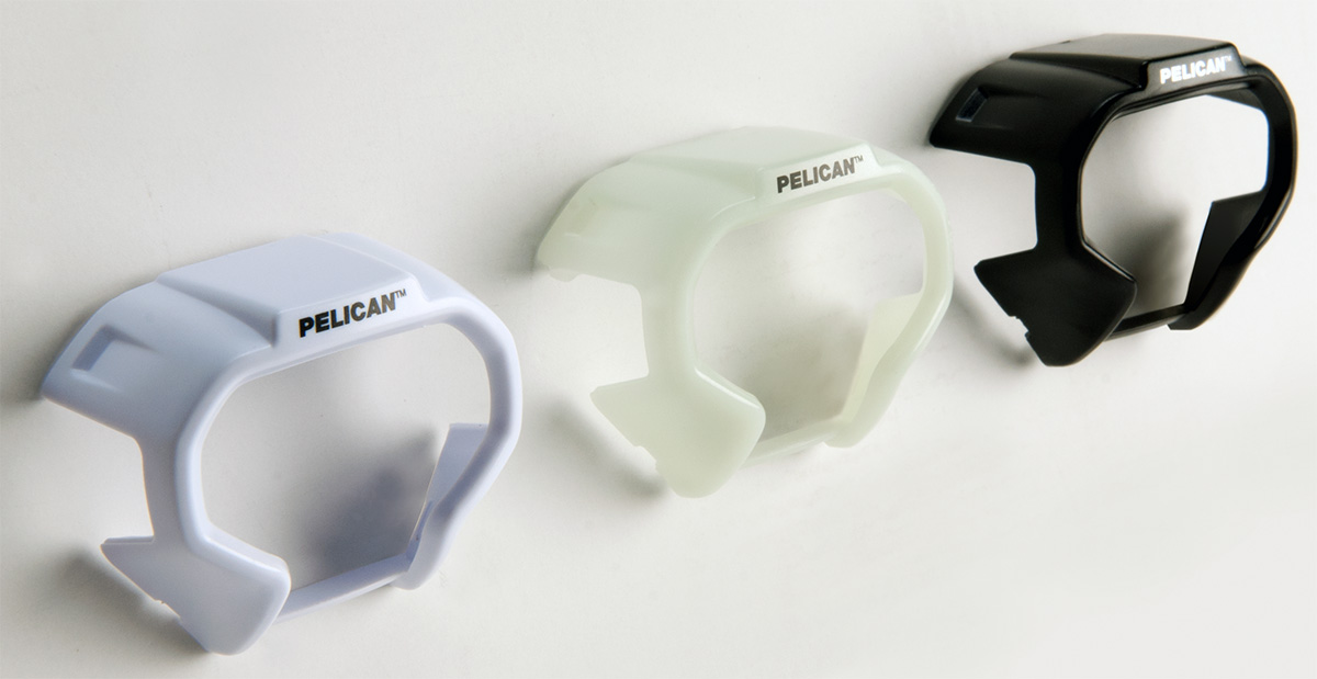 pelican white black glow dark led headlamp