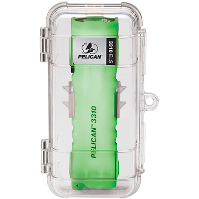 pelican 3310els glow in the dark safety wall flashlight