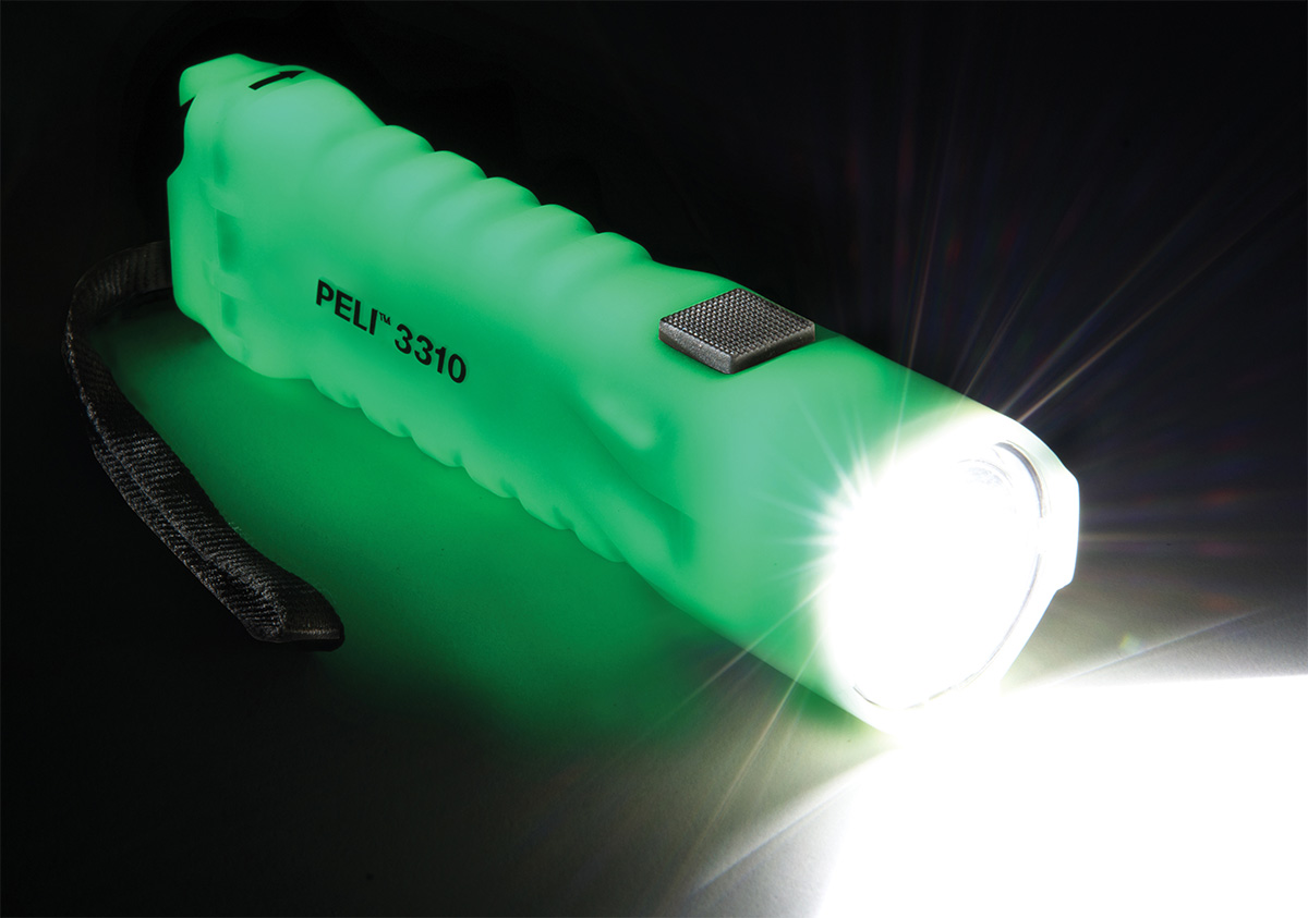 peli 3310pl super bright 3310 glow dark led torch