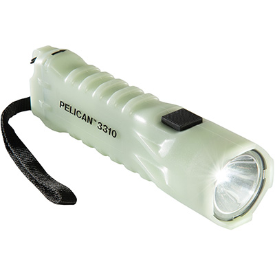 pelican 3310pl glowing in the dark safety flashlight