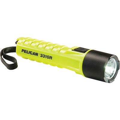 pelican 3310r yellow safety flashlight