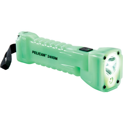 pelican 3410m flashlight glow in dark light