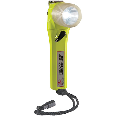 pelican 3610pl glow dark right angle led flashlight
