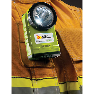 peli 3765z0 fire fighter clip led safety flashlight
