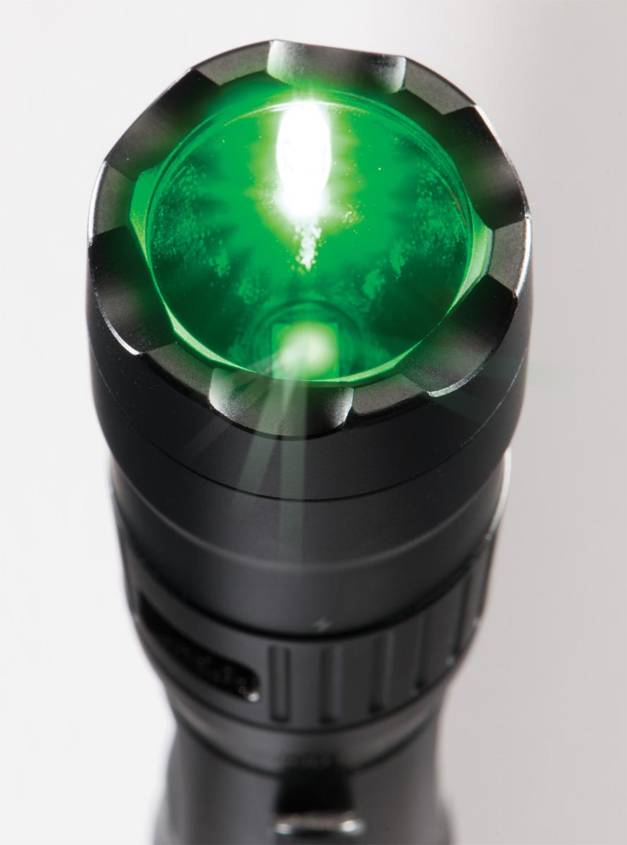 pelican led green light flashlight tactical