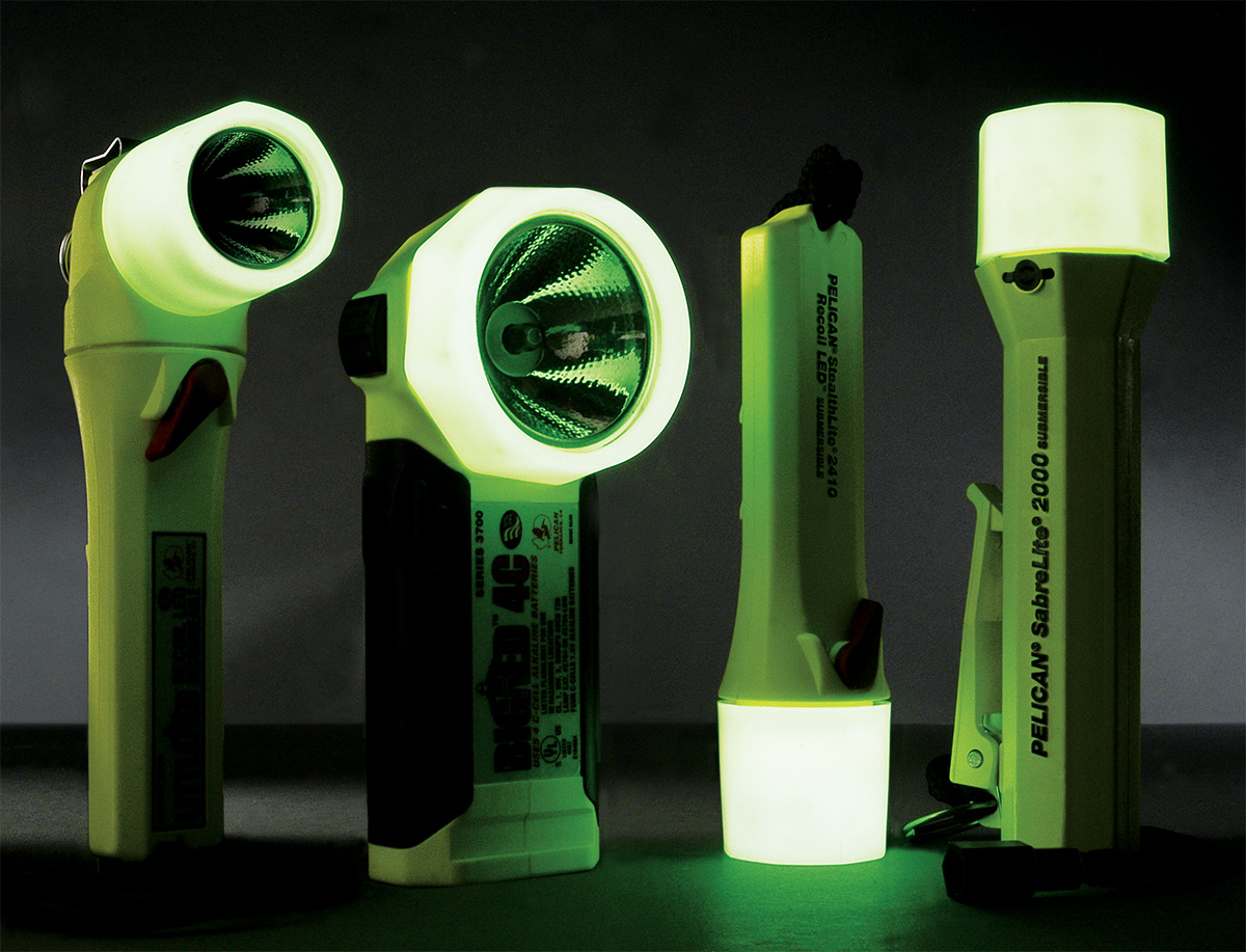 pelican usa made glow dark safety flashlights