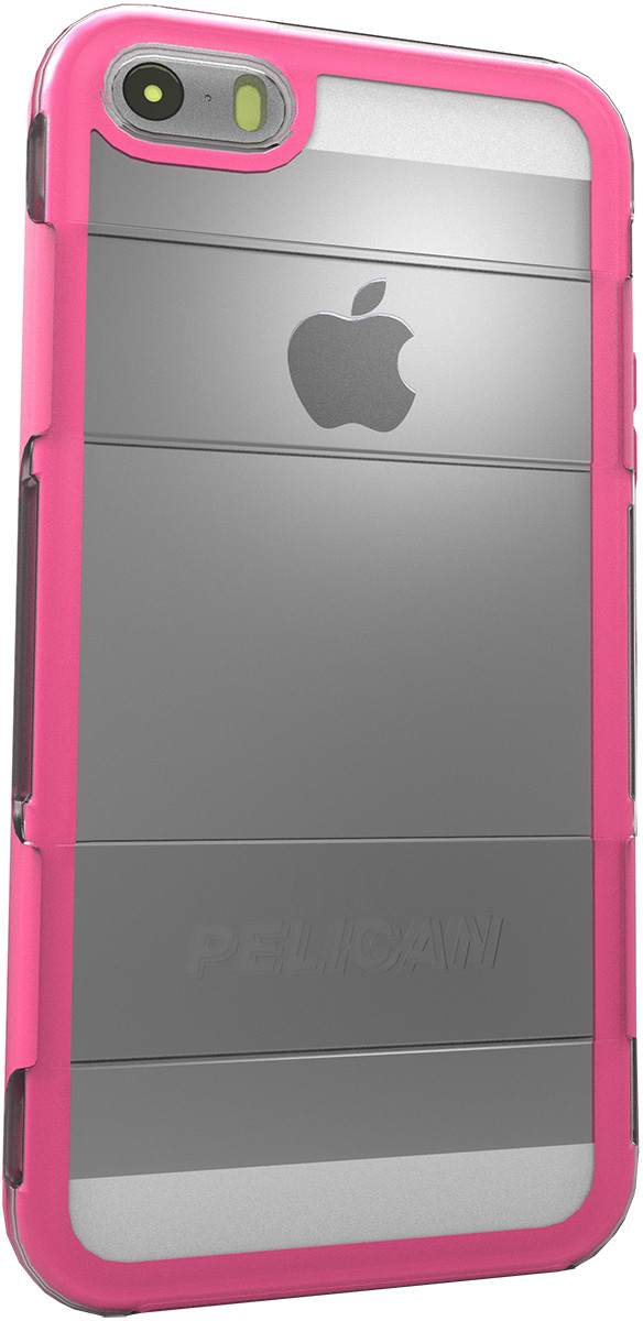 pelican adventurer apple iphone 5 5s c20100 clear pink