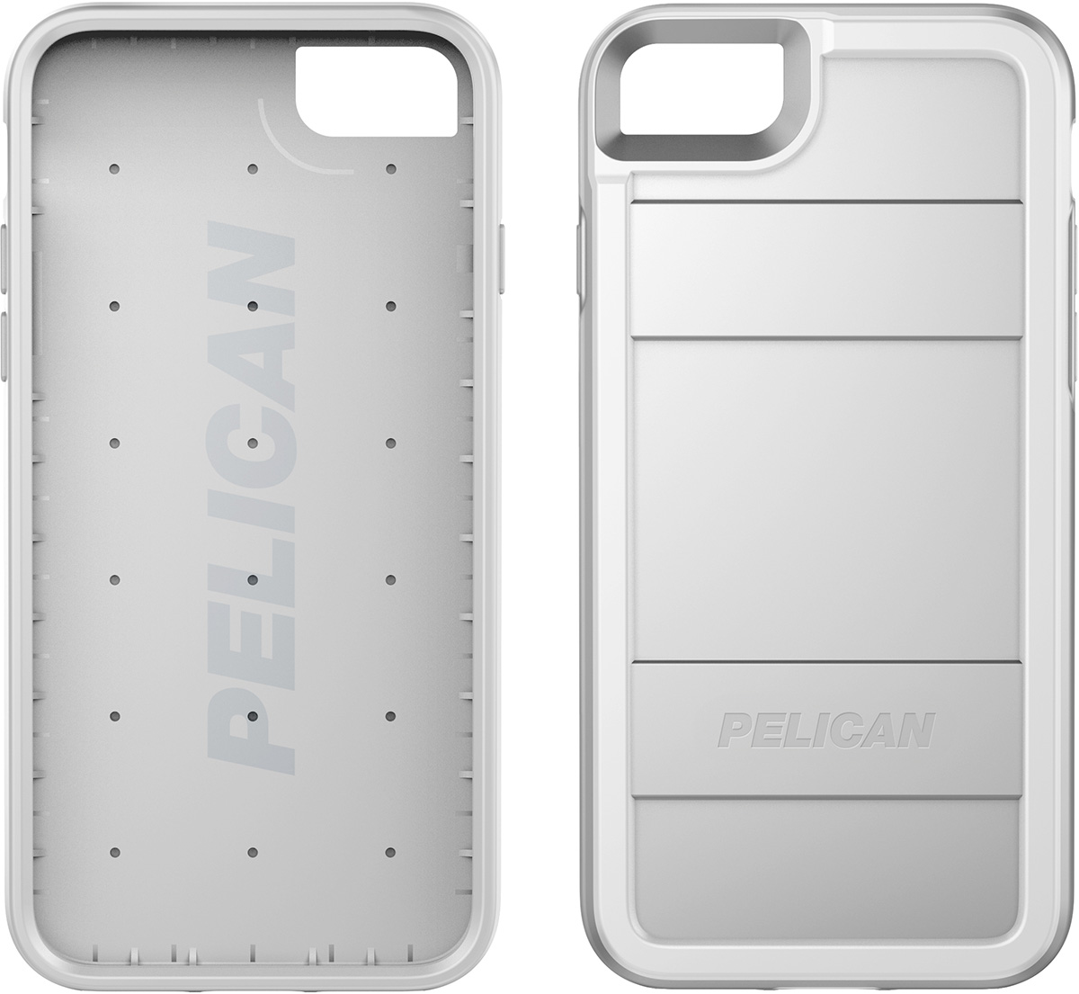 pelican protector iphone 7 8 phone case c23000 silver