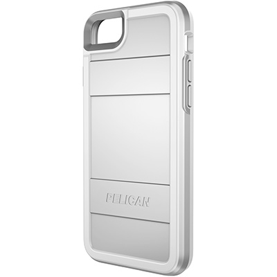 pelican protector iphone 7 8 phone case c23000 metallic silver