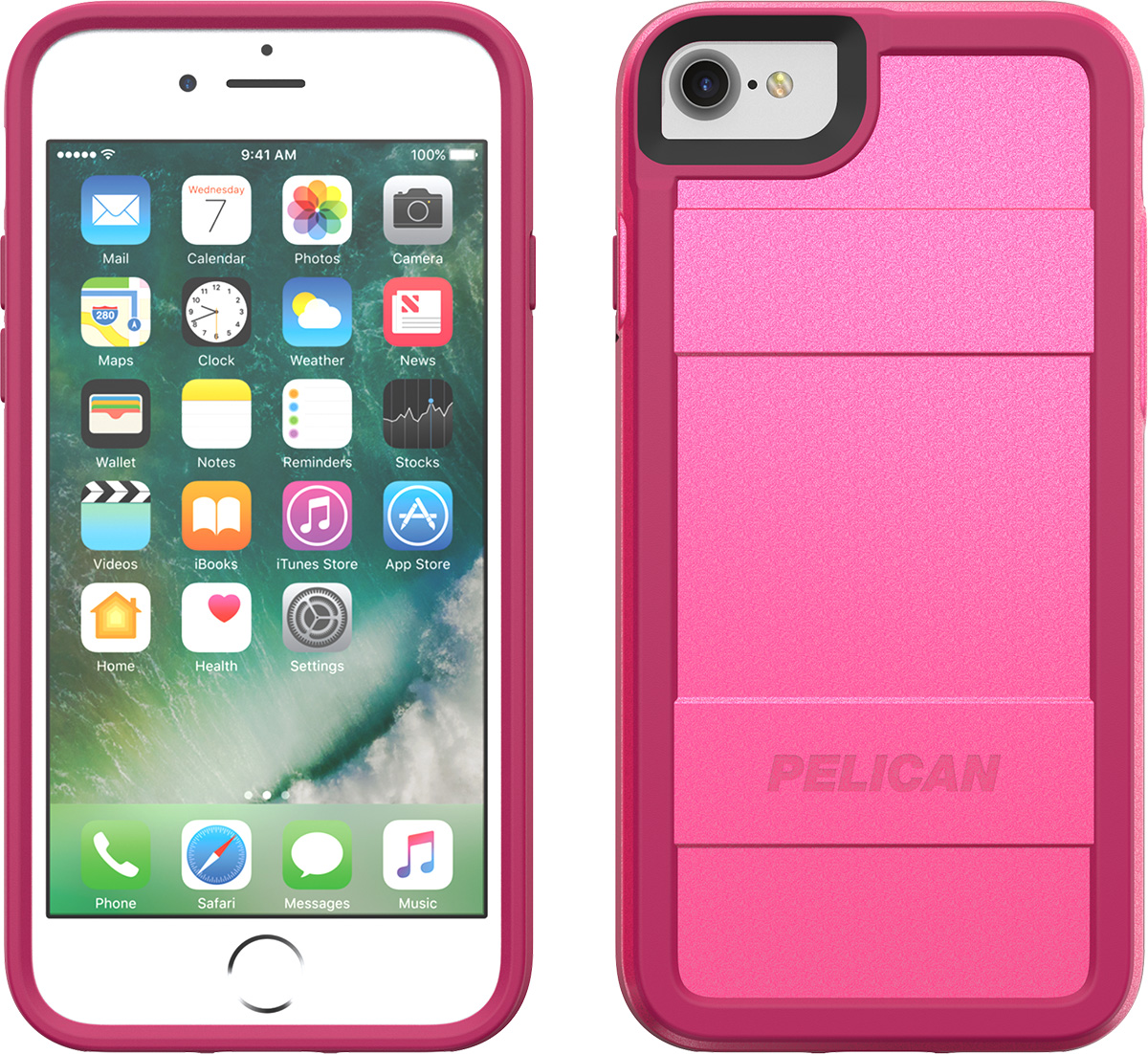 pelican protector iphone 7 8 phone case c23000 pink sleek