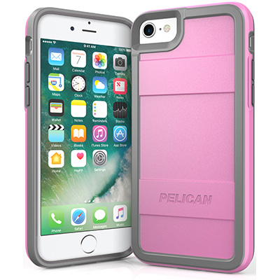 pelican protector iphone 7 8 phone case c23000 protective pink
