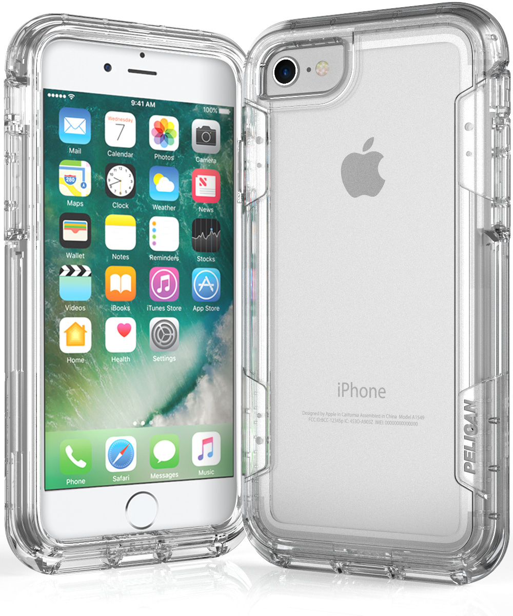 pelican c23030 clear iphone 7 case voyager cases