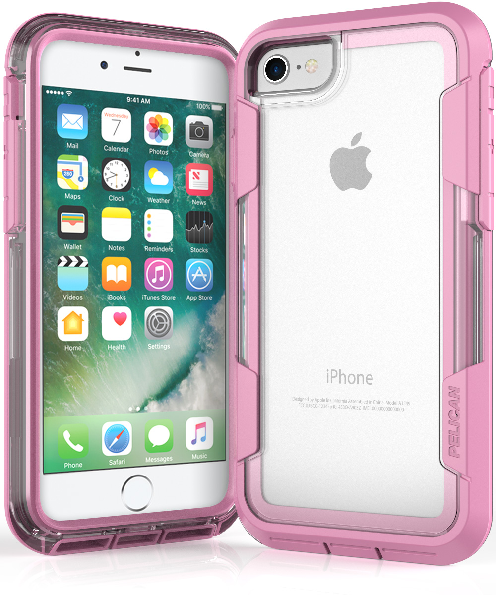 pelican c23030 pink iphone 7 voyager clear phone case