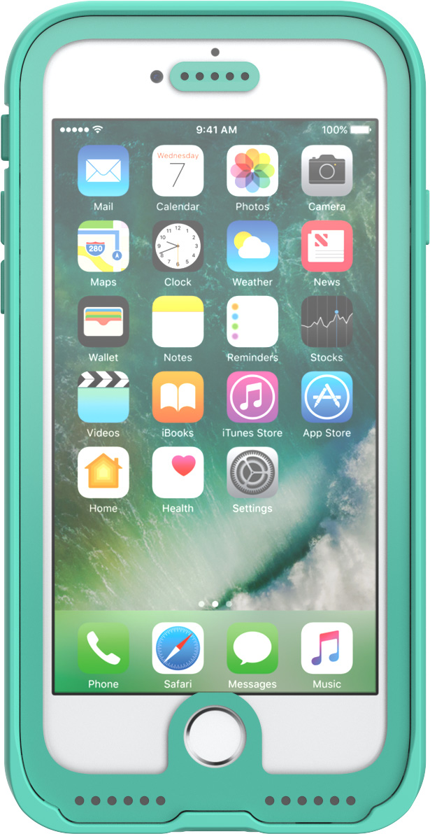 pelican c23040 clear teal marine iphone case water proof