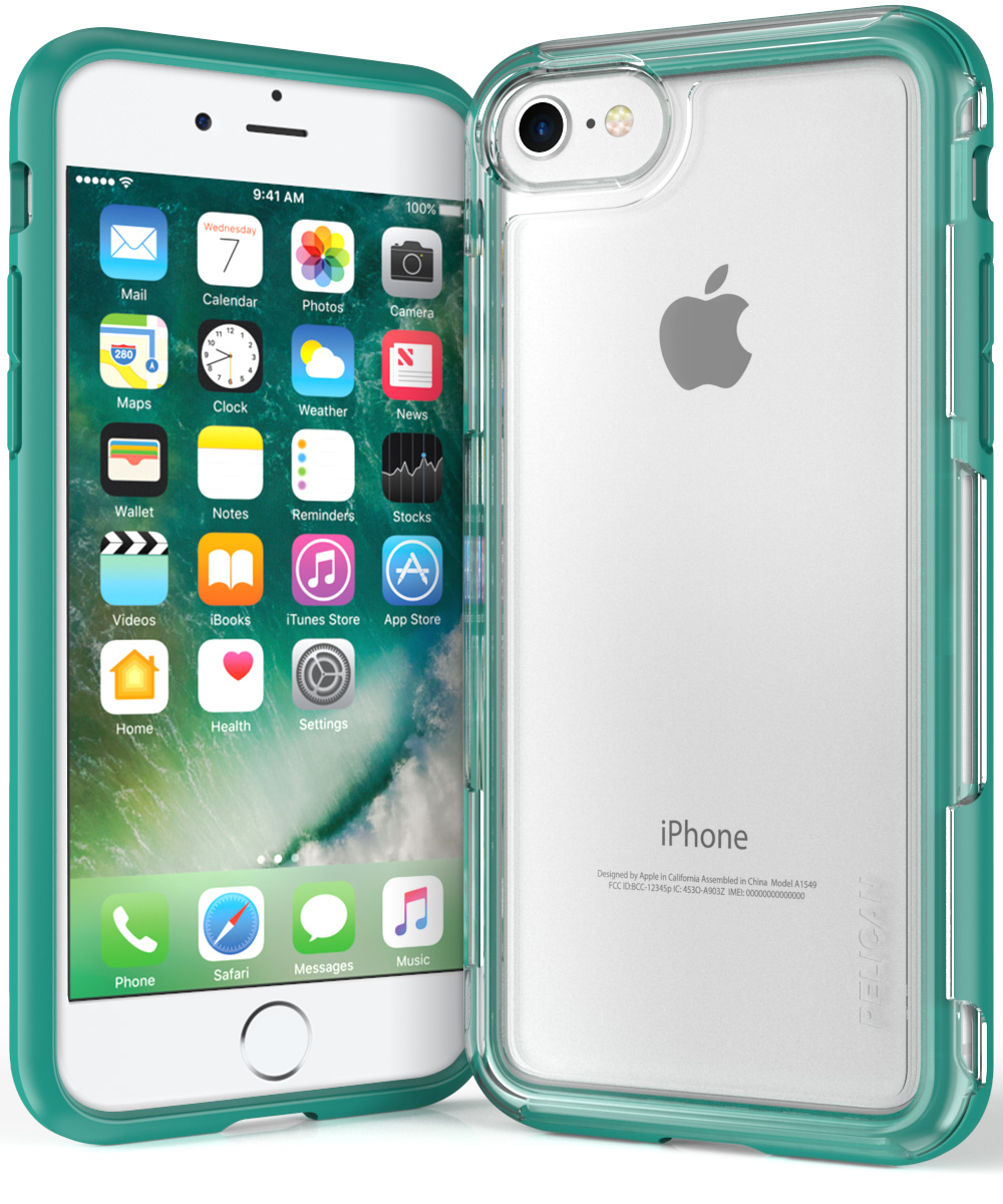 pelican c23100 iphone 7 clear green case