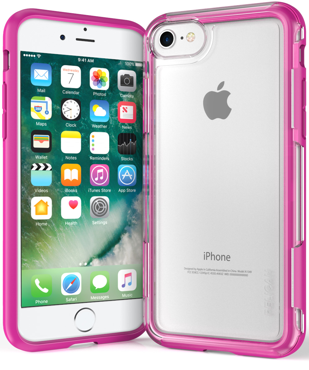 pelican c23100 iphone 7 clear pink case adventurer