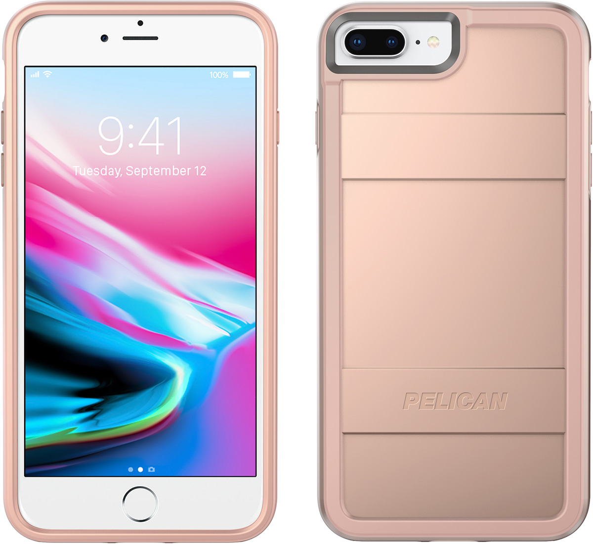pelican c24000 rose gold iphone 8 plus case