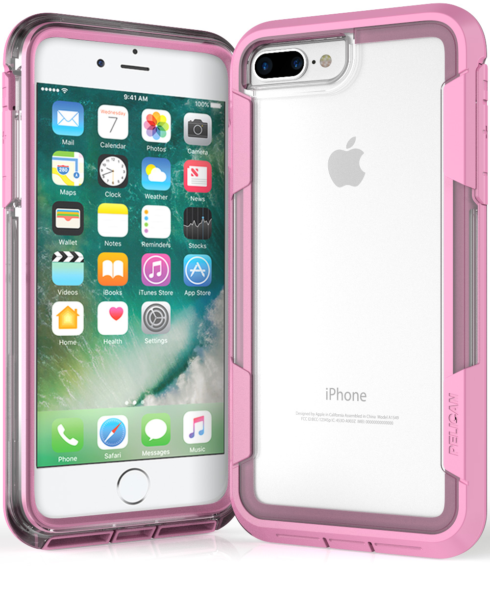 pelican c24030 iphone 7 plus pink case clear voyager