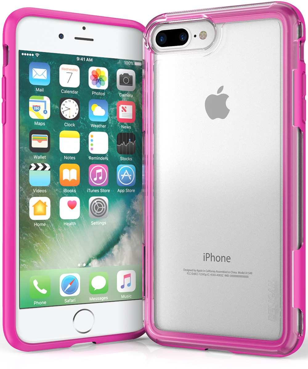 pelican c24100 clear pink iphone 7 plus case