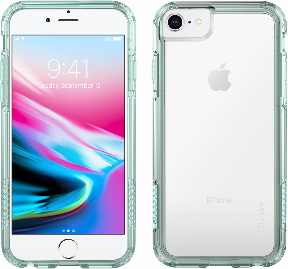 pelican c35100 clear green iphone 8 case adventurer