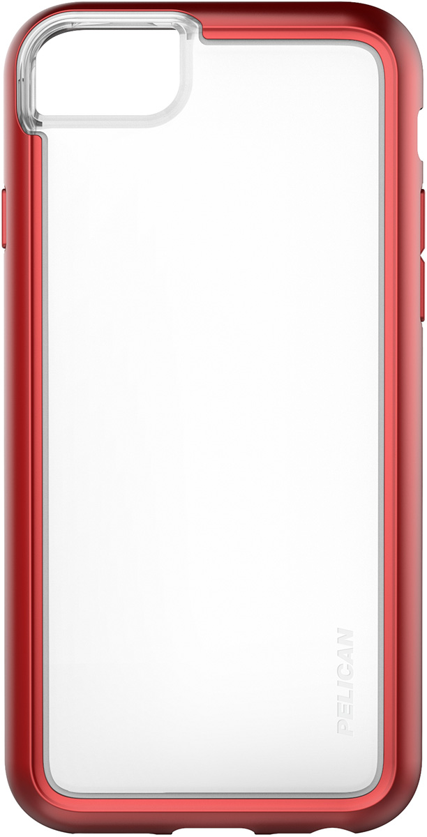 pelican c35100 clear red iphone 7s phone case